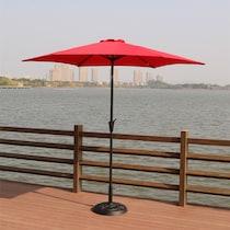 district red outdoor umbrella