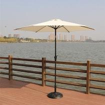 district white outdoor umbrella