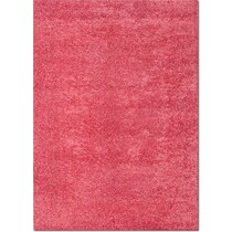 domino pink shag pink area rug ' x '