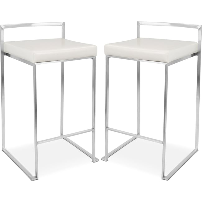 Dining Room Furniture - Doric Set of 2 Counter-Height Stools