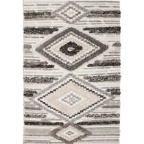 drake ivory gray area rug ' x '
