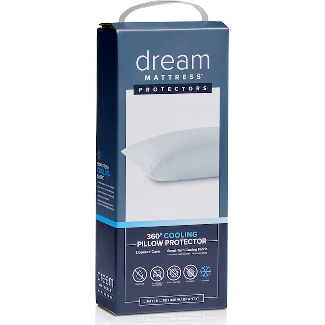 Mattresses and Bedding - Dream Queen Cooling Pillow Protector