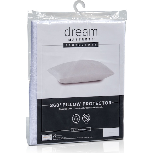 Mattresses and Bedding - Dream Queen Terry Pillow Protector