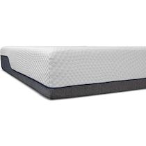 dream relax white full mattress low profile foundation set
