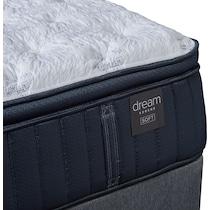 dream serene gray queen mattress foundation set