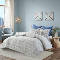 eastyn blue full queen bedding set
