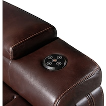 echo dark brown power recliner