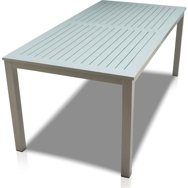 Edgewater Outdoor Rectangular Dining Table - Gray