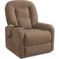 edmond dark brown power lift recliner