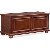 edson dark brown accent chest