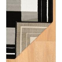elbert black white area rug ' x '