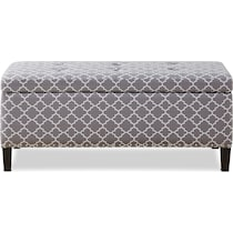 eleanor gray storage bench