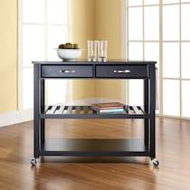 elias black kitchen cart