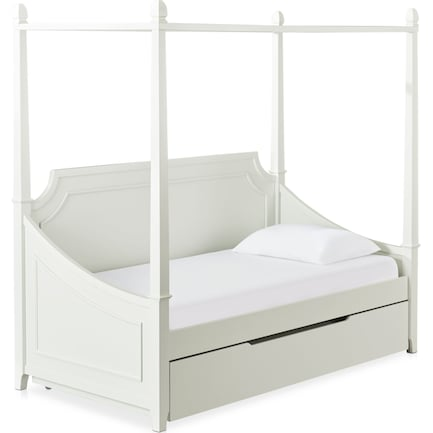 Elle Twin Trundle Canopy Daybed - Gray