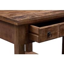 ellis dark brown end table