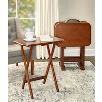 ernest dark brown tray table