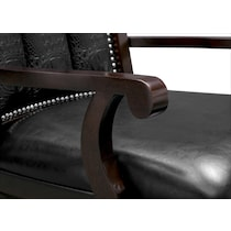 esquire dark brown arm chair