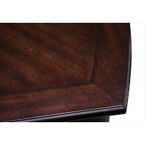 esquire dark brown dining table