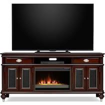 esquire dark brown fireplace tv stand