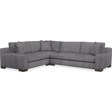 Ethan Comfort 2-Piece Large Sectional with Left-Facing Sofa - Charcoal