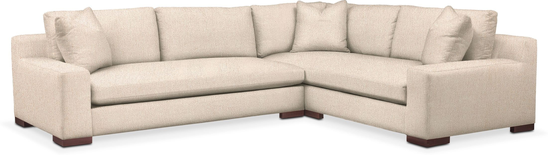 Ethan Performance 2 Piece Large Sectional American Signature Furniture
