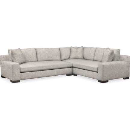 Ethan Foam Comfort 2-Piece Large Sectional with Left-Facing Sofa - Ivory