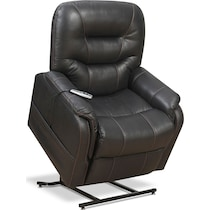 eugene dark brown power lift recliner