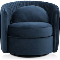 evelyn blue accent chair