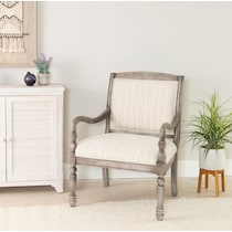 everly gray accent chair