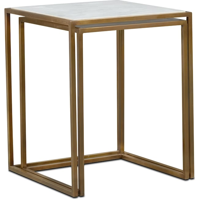 Accent and Occasional Furniture - Evie Marble Nesting Tables