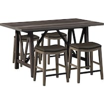 fairfield gray  pc counter height dining room