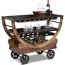farrell brown bar cart