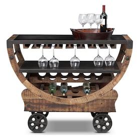 Farrell Bar Cart - Brown