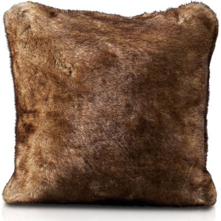 Faux Fur Pillow - Arctic Wolf