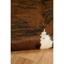 faux dark brown area rug ' x '