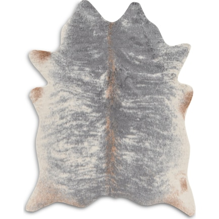 Faux Cowhide 5 X 7 Area Rug - Gray Mix