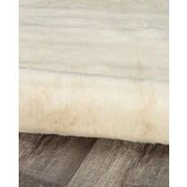 faux white area rug ' x '