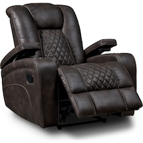felix dark brown  pc manual reclining living room