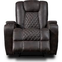 felix dark brown manual recliner