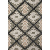 fes blue and green area rug ' x '