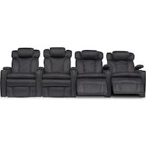 fiero charcoal gray  pc power home theatre sectional
