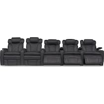 fiero charcoal gray power home theater sectional