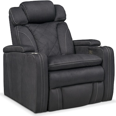 Fiero Dual-Power Recliner - Charcoal