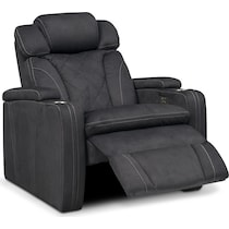 fiero charcoal gray power recliner