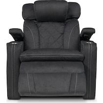 fiero charcoal gray power recliner