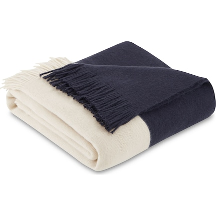 Finley Knit Throw - Blue