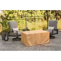 fire table cover tan fire pit cover