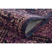 flat woven purple area rug ' x '