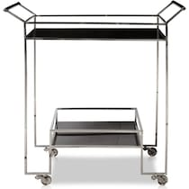 fleur stainless steel bar cart