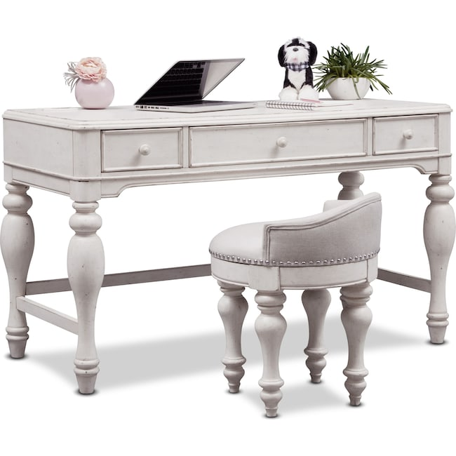 Home Office Furniture - Florence Vanity Desk and Stool